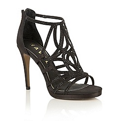 Ravel - Black satin 'Blanco' heeled pumps