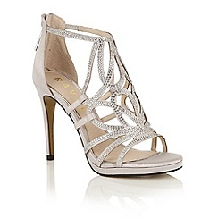 Ravel - Silver satin 'Blanco' heeled pumps
