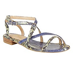Ravel - Blue 'Saratoga' snake effect strappy sandals