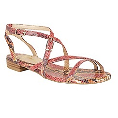 Ravel - Coral 'Saratoga' snake effect strappy sandals