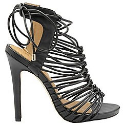 Ravel - Black 'Maryhill' ladies high strappy sandals