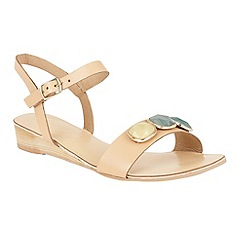 Ravel - Beige 'Goldendale' open toe slip on sandals