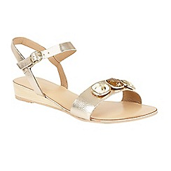 Ravel - Gold 'Goldendale' open toe slip on sandals