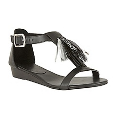 Ravel - Black 'Astoria' open toe buckled sandals
