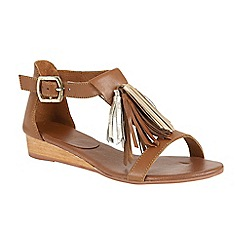 Ravel - Tan 'Astoria' open toe buckled sandals