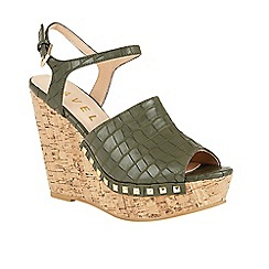 Ravel - Khaki 'Tacoma' open toe ankle strap sandals
