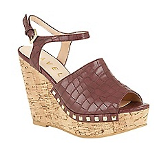 Ravel - Grape 'Tacoma' open toe ankle strap sandals