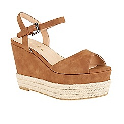 Ravel - Tan 'Easton' wedge heeled espadrille sandals