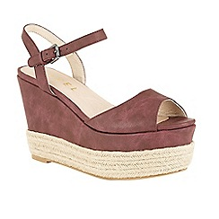 Ravel - Grape 'Easton' wedge heeled espadrille sandals