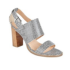 Ravel - White 'Glide' stacked block heeled sandals