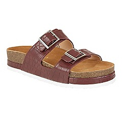 Ravel - Grap 'Ashland' slip on platform buckled sandals