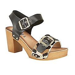 Ravel - Black 'Rutland' block heeled platform sandals