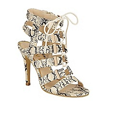 Ravel - Snake 'Omak' stiletto heeled lace up sandals