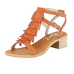 Ravel - Coral 'Almira' ankle strap stacked heel sandals