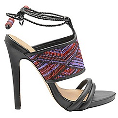 Ravel - Black 'Chelan' ladies high heeled open toe sandals