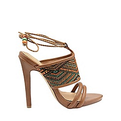 Ravel - Tan 'Chelan' ladies high heeled open toe sandals