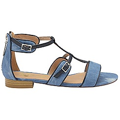 Ravel - Denim textile 'Ritzville' ladies open toe sandals