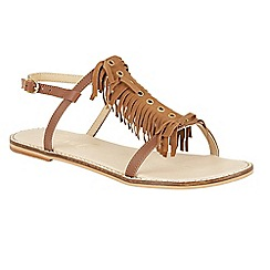 Ravel - Tan 'Lexington' open toe ankle strap sandals