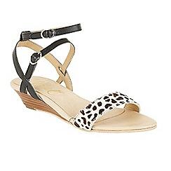 Ravel - Black 'Fremont' ankle strap wedge sandals