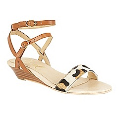 Ravel - Tan 'Fremont' ankle strap wedge sandals