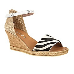 Ravel - Zebra 'Lawton' wedge heeled espadrille sandals
