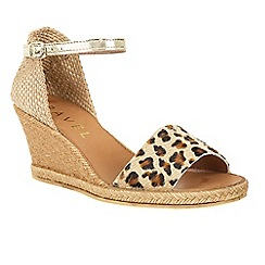 Ravel - Leopard 'Lawton' wedge heeled espadrille sandals