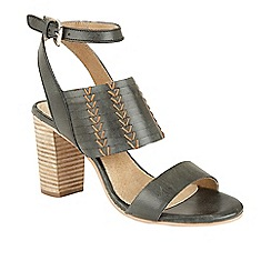 Ravel - Black 'Lenox' high block heeled sandals