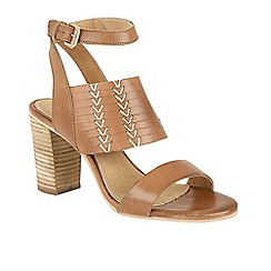 Ravel - Brown 'Lenox' high block heeled sandals