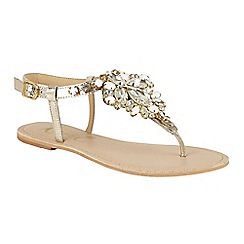 Ravel - Gold 'Redvale' toe post ankle strap sandals