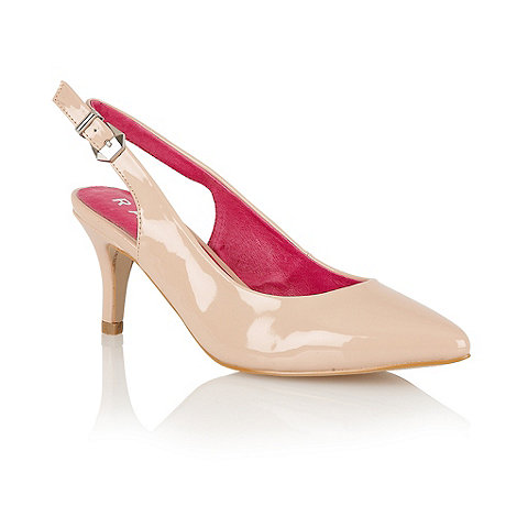 Ravel - Nude +Hyacinth+ sling back court shoes