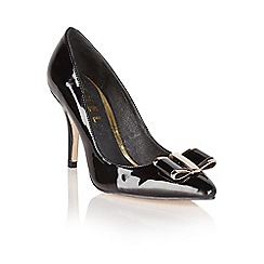 Ravel - Black 'Waterlily' bow court shoes