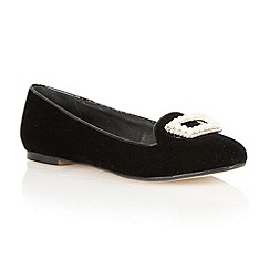 Ravel - Black 'Minnesota' soft velvet pumps
