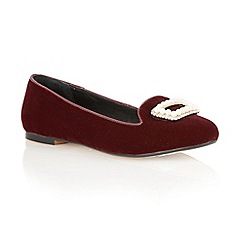 Ravel - Burgundy 'Minnesota' soft velvet pumps