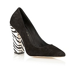 Ravel - Black zebra 'Oklahoma' pony skin court shoes