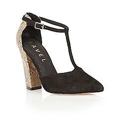 Ravel - Black 'Albany' snake mary jayne court shoes