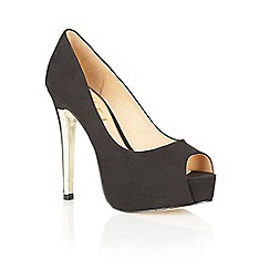 Ravel - Black 'Bel Air' peeop toe court shoes