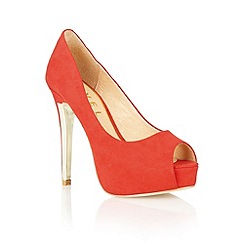 Ravel - Red 'Bel Air' peeop toe court shoes