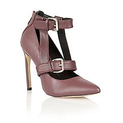 Ravel - Burgundy 'Jamestown' multiple buckle court shoes