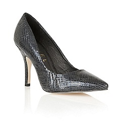Ravel - Black snake 'Nashville' leather court shoes