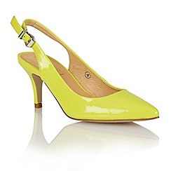 Ravel - Lime 'Portland' ladies sling-back court shoes
