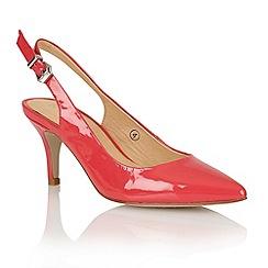 Ravel - Raspberry 'Portland' ladies sling-back court shoes