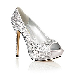Ravel - Silver 'Clarksville' peep toe court shoes