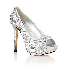 Ravel - Silver 'Clarksville' peep toe court shoes