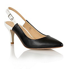 Ravel - Black/white 'Brownsville' sling-back court shoes