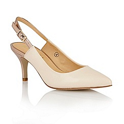 Ravel - Nude/gold 'Brownsville' sling-back court shoes
