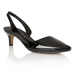 Ravel - Black 'Beaumont' ladies sling-back heeled pumps