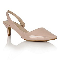 Ravel - Nude 'Beaumont' ladies sling-back heeled pumps