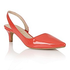 Ravel - Coral 'Beaumont' ladies sling-back heeled pumps