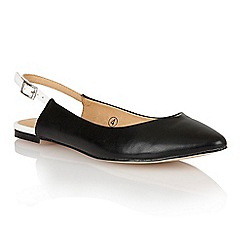 Ravel - Black/white 'Wrangell' ladies sling-back pumps