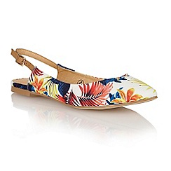 Ravel - Floral/tan 'Wrangell' ladies sling-back pumps